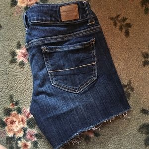 American Eagle Dark Wash Cutoff Jean Shorts